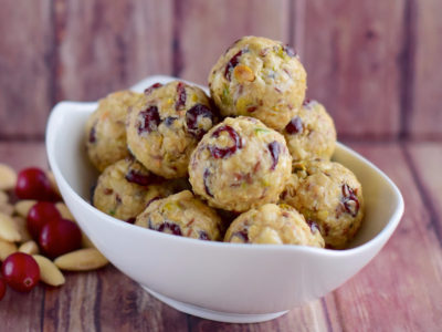 Cranberry Almond & Oat Energy Balls