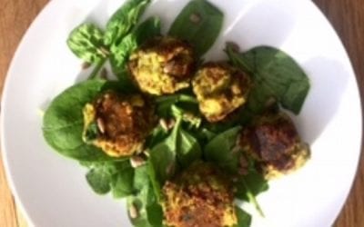 Spinach & chia seed falafels