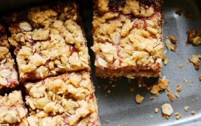Raspberry Nutty Flapjacks