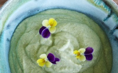 'No chickpea' courgette hummus