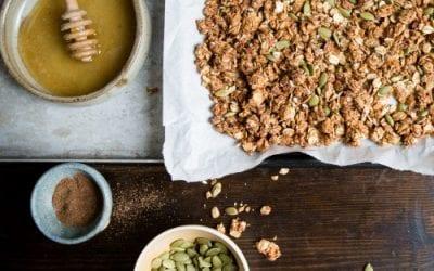 Peanut Butter and Cinnamon Granola