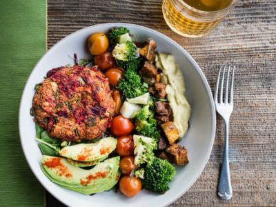 Beets Burger Bowl