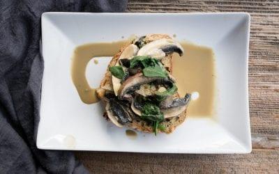 Creamy, Garlic Mushrooms