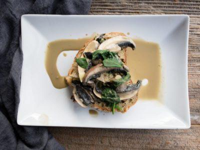 Vegan garlic mushroom recipe