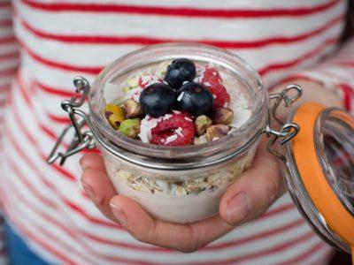 Bircher muesli with berries