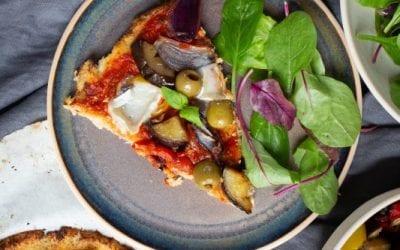 Mediterranean Cauliflower Pizza