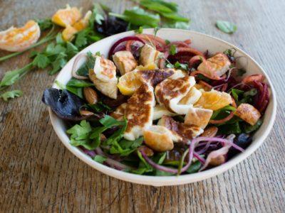 Halloumi & Golden Beet Noodle Salad