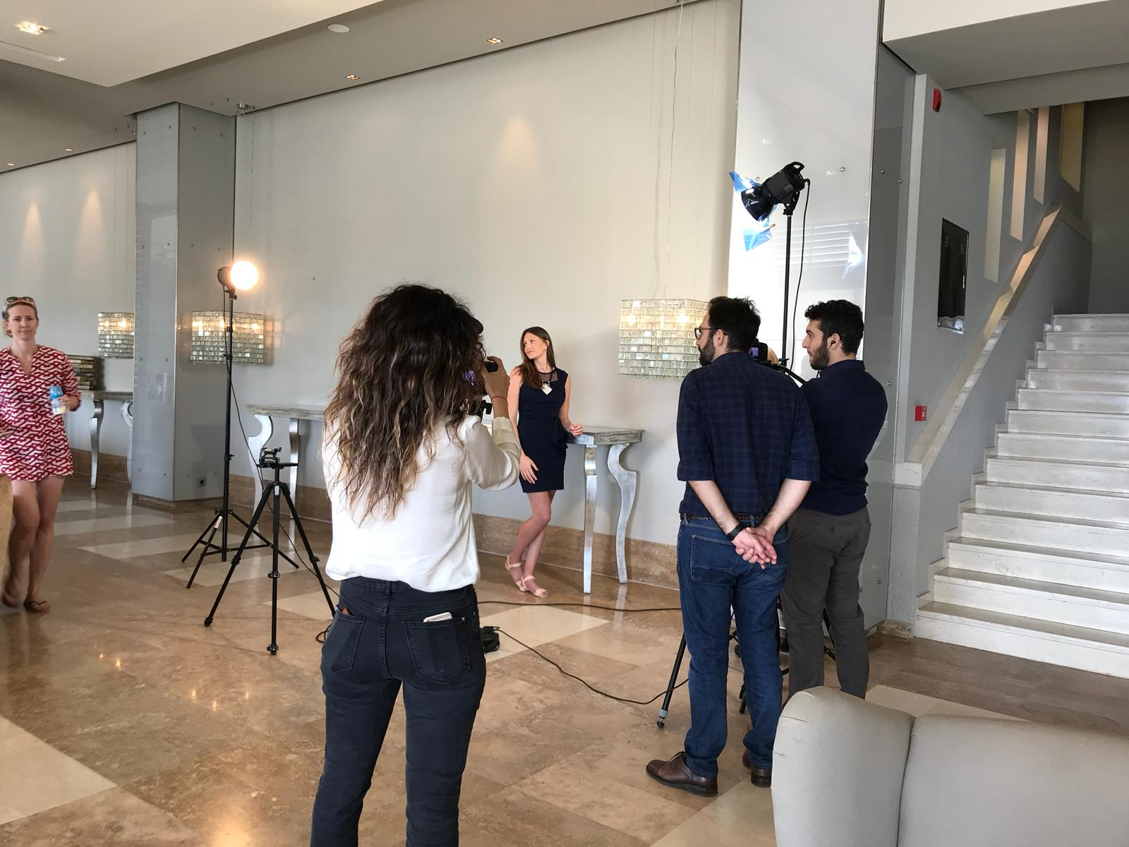 Nutritionist filming for brand consultancy